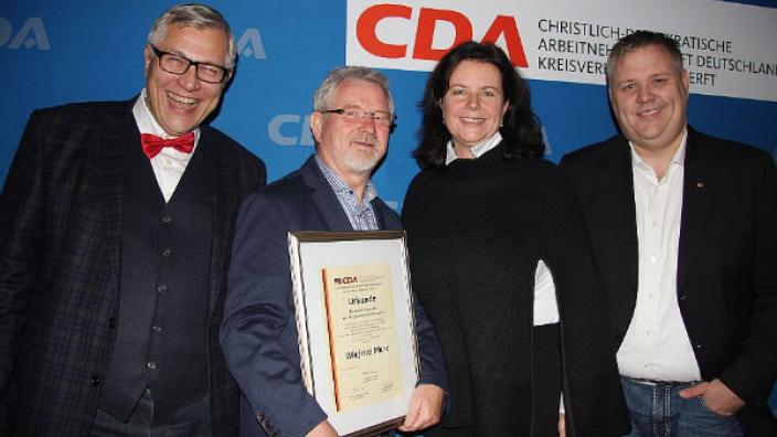 Verleihung Ehrenvorsitz der CDA an Winfried Marx