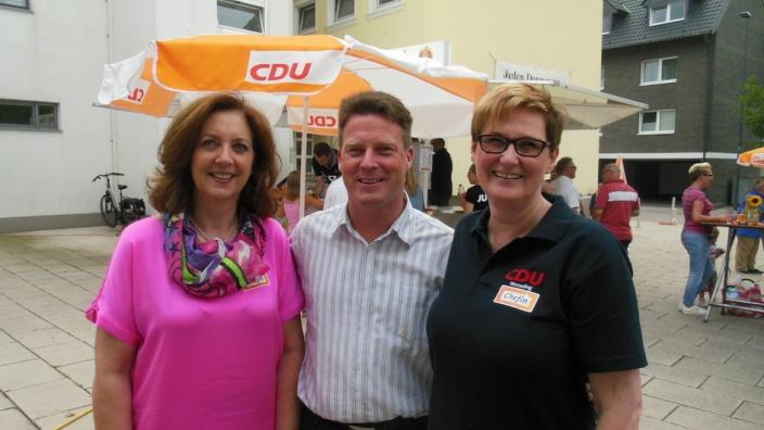 Zu Gast aus Brühl: Die Vorsitzende des CDU Stadtverbandes Eva-Maria Reiwer